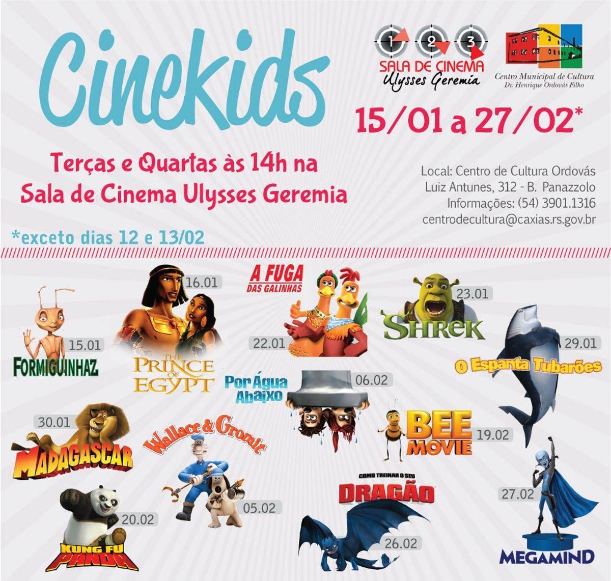 CineKids: confira os filmes em cartaz em fevereiro